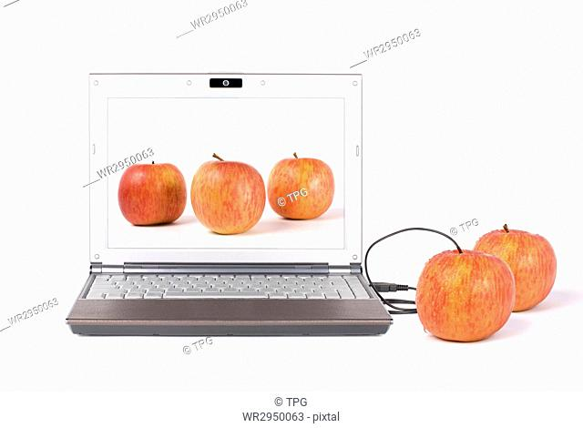 Download real apple from the laptop by USB, From desktop to tabletop
