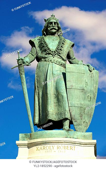 Statue of King Robert - Hsök tere,  Heroes Square  Budapest Hungary