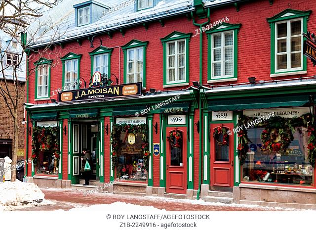 Grocery store on Rue Saint-Jean in Quebec City, Canada