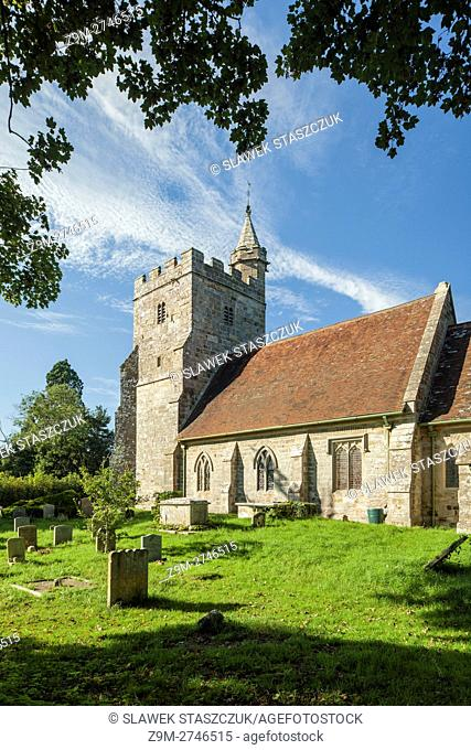 Late summer afternoon at St Michael in Little Horsted, East Sussex, England
