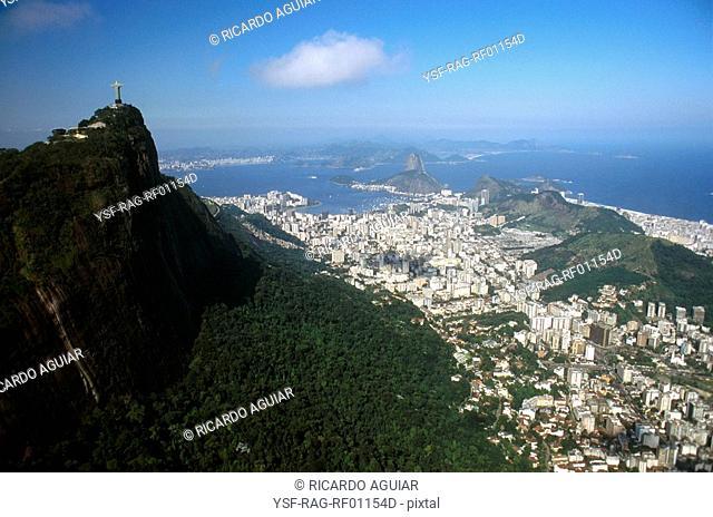Cristo Redentor, Corcovado, Pão de Açúcar, Botafogo, Rio de Janeiro, Brazil