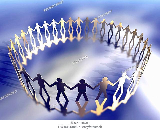 3D Illustration symbolizing the Power of Teamwork