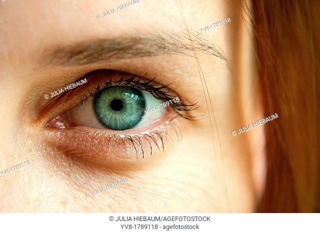 Woman's left eye