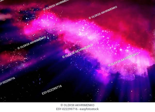 lights in the black space of the galaxy
