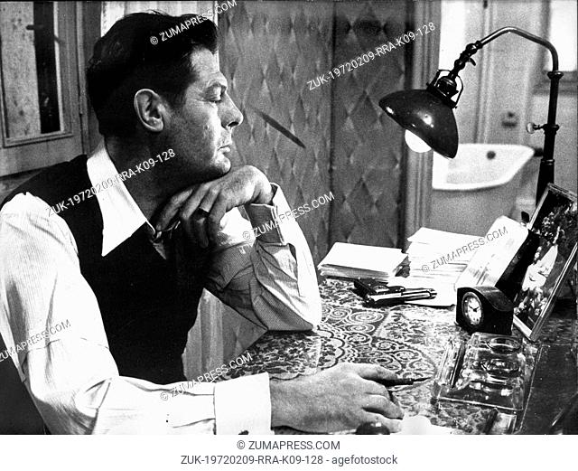 Sep. 6, 1977 - Rome, Italy - Actor MARCELLO MASTROIANNI at his desk as 'Gabriele,' in a scene fromt he film, 'A Special Day