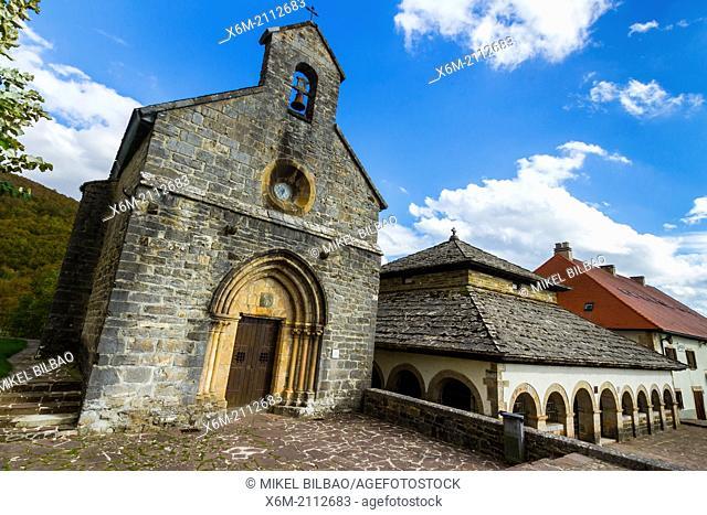 Santiago chapel. Roncesvalles. Way of St. James. Navarre, Spain, Europe