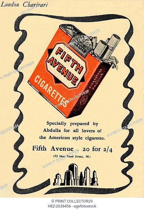 'Fifth Avenue Cigarettes', 1946. Artist: Unknown
