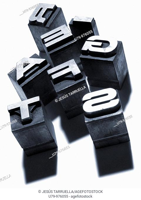 Bodegón de letras tipográficas