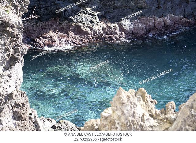 Coast in Los Abrigos Tenerife Canary islands Spain