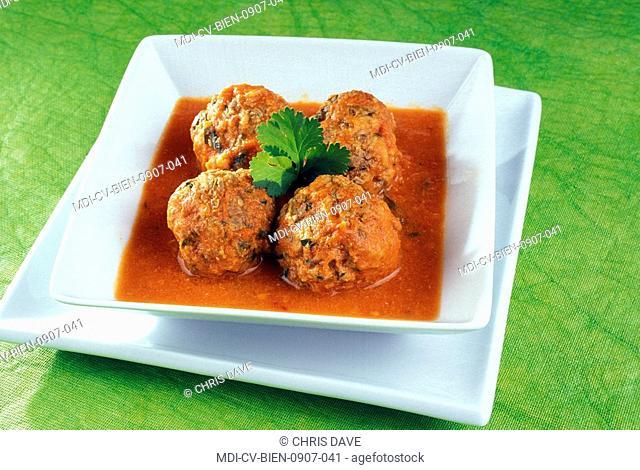 Boulettes with a tomato sauce - Dietetic menu