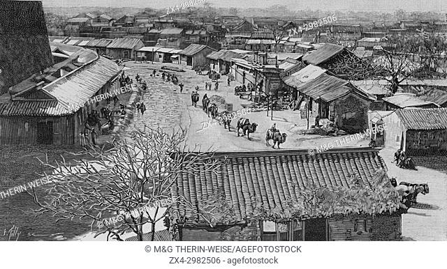 Beijing 1900, Chinese city viewed from the walls, Picture from the French weekly newspaper l'Illustration, 7th July 1900