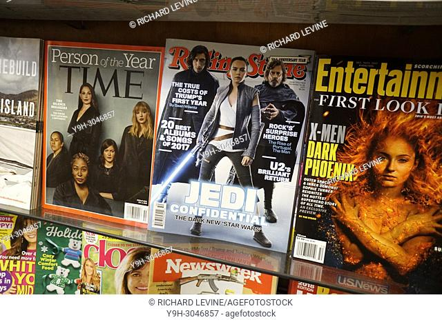 Rolling Stone magazine is seen on a newsstand in New York on Thursday, December 21, 2017. A deal is reported to have been finalized in the sale of Jann Wenner's...
