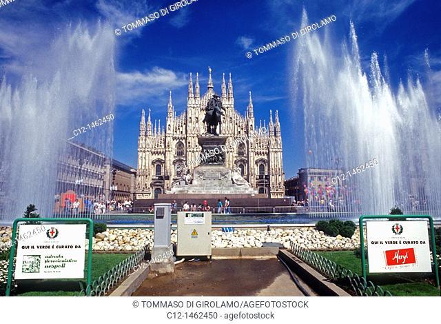 Milano, Duomo square, cathedral