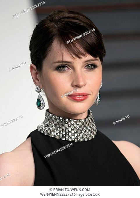 Celebrities attend 2015 Vanity Fair Oscar Party at Wallis Annenberg Center for the Performing Arts with City Hall in Beverly Hills