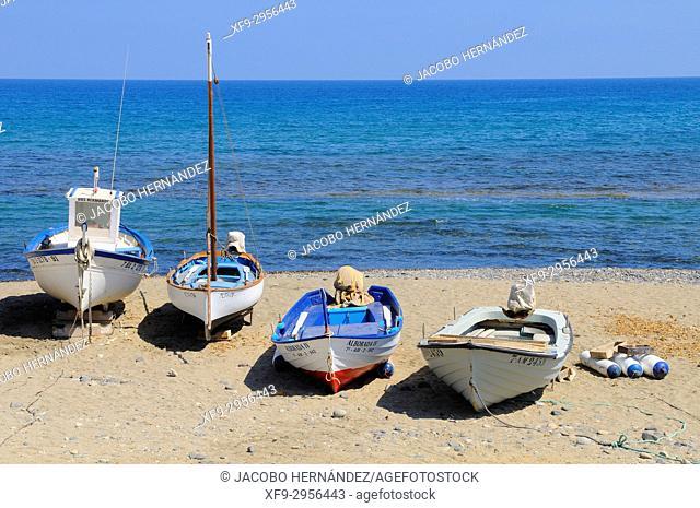 Las Negras beach. Cabo de Gata-Níjar Natural Park. Almería province. Andalusia. Spain
