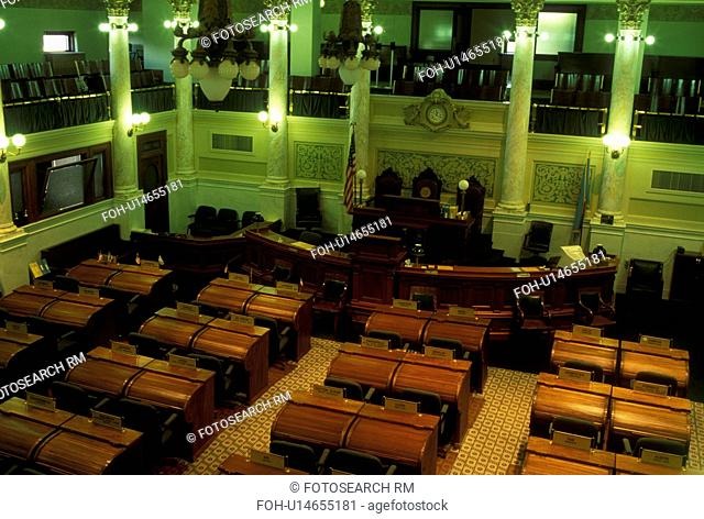 Pierre, SD, South Dakota, State Capitol, State House, The Senate inside the South Dakota State Capitol Building