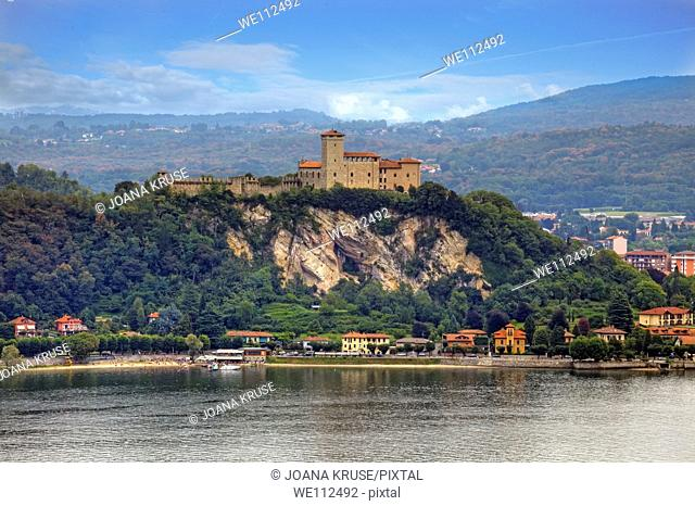 Castle on Lake Maggiore in Angera, Italy