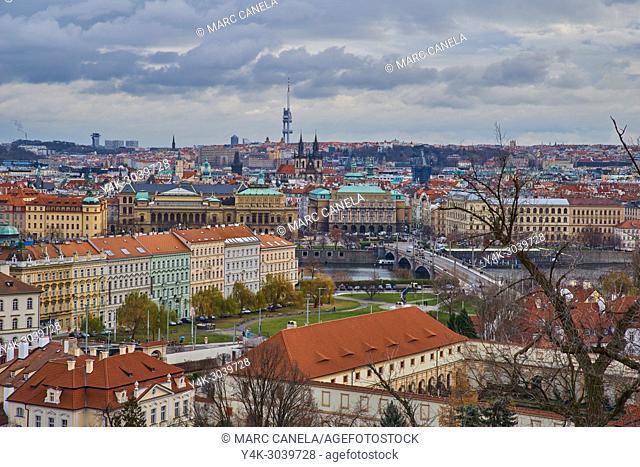Europe Prague, Czech Republic, landscape from prague castle