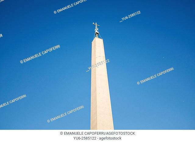 Top of the obelisk place in St. Peter's Square at the Vatican in Rome, Italy