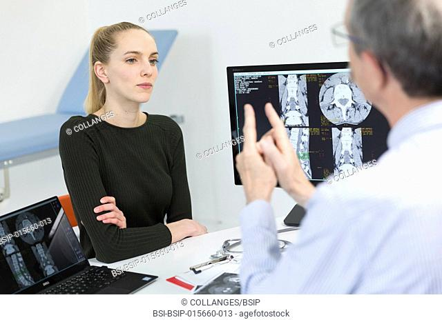 Lumbar scan with degenerative disc disease