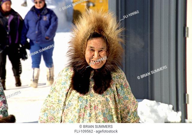B.Summers, Portrait, Woman Outdoors, Nunavut