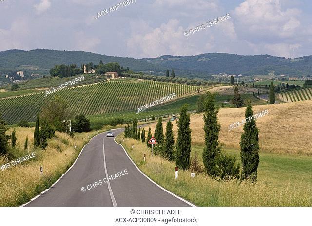 Tuscan countryside near Sienna, Italy