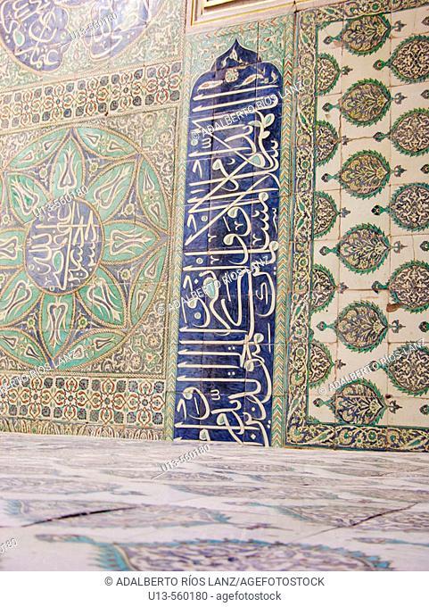 Wall Detail Fourth Court Circumscision Room Topkapi Palace Istanbul Turkey