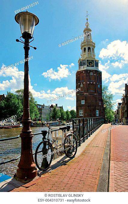 Montelbaanstoren Tower. Amsterdam, Netherlands