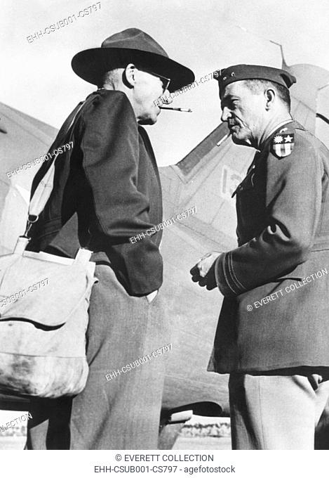 Gen. Joseph Stillwell (left) with Maj. Gen. Claire Chennault, Commander, 14th US Air Force in China. August 1943. Stillwell was embarking on an informal...