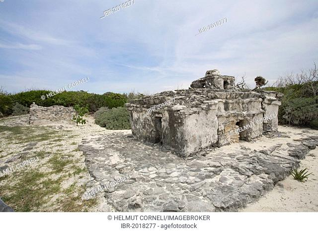 Mayan ruins, Punta Sur, in the south of Cozumel, Mexico, Caribbean