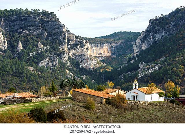 Puente de Vadillos, Hoz de Beteta, Serranía de Cuenca, Cuenca province, Castilla-La Mancha, Spain