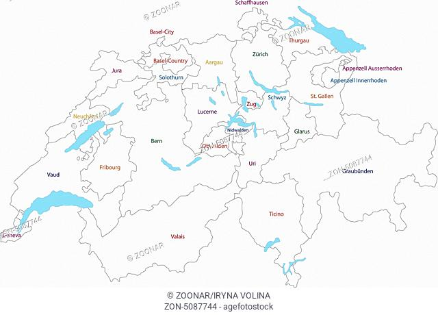 Outline Switzerland map