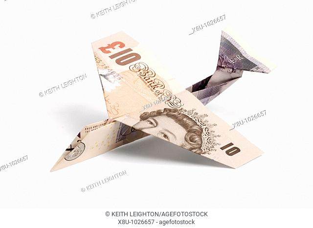Airplane made of pound notes