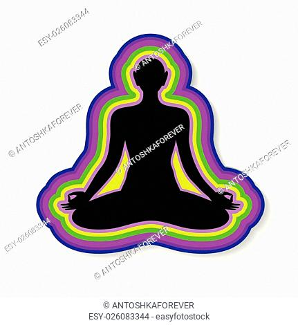 Yoga - sign template . The idea of the logo for yoga, spirituality, esoteric, meditation etc.
