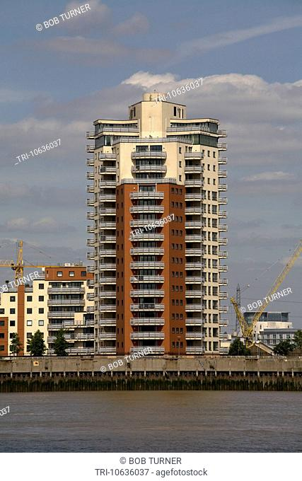 modern apartment block tower hamlets london england