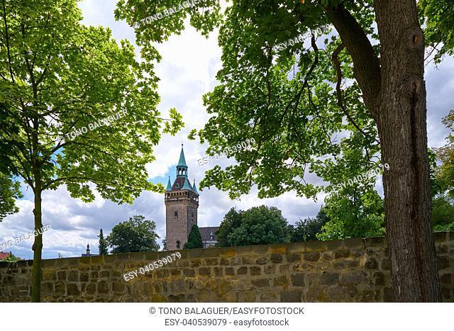 Quedlinburg tower in Harz of Saxony Anhalt Germany