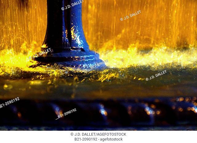 Heavy rain in summer at Montpon, Dordogne, Aquitaine, France