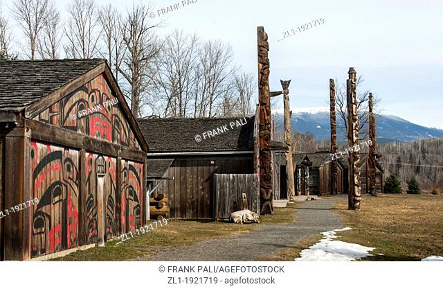 Ksan Historical Village and Museum Ksan is located near the ancient village of Gitanmaax, at the confluence of the Bulkley and Skeena Rivers
