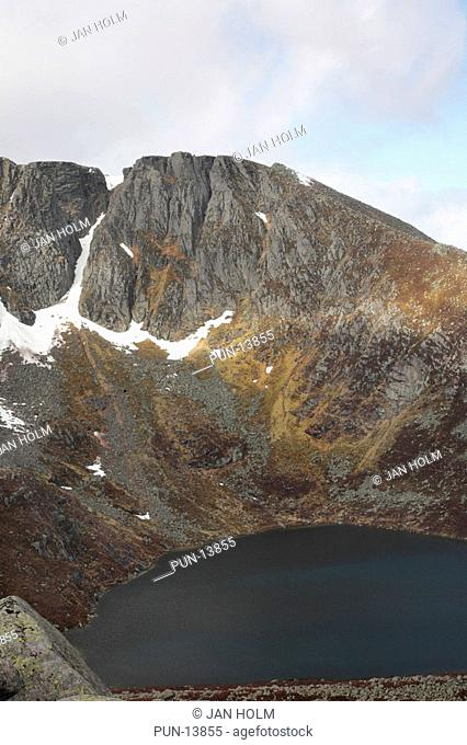 Corries and snow on Lochnagar, Royal Deeside, Scotland