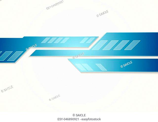 Abstract technology corporate brochure design. Vector geometric tech background