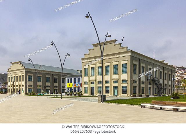 Azerbaijan, Baku, Yarat Contemporary Art Center, located in former Soviet Navy Building, exterior