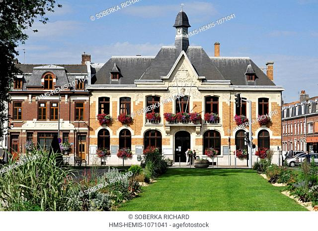 France, Nord, Saint Andre lez Lille, City Hall and park