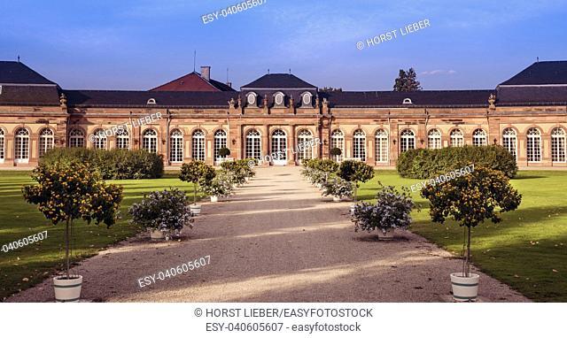 Northern part of Schwetzingen Castle . Schwetzingen, Baden-Wuerttemberg, Germany, Europe