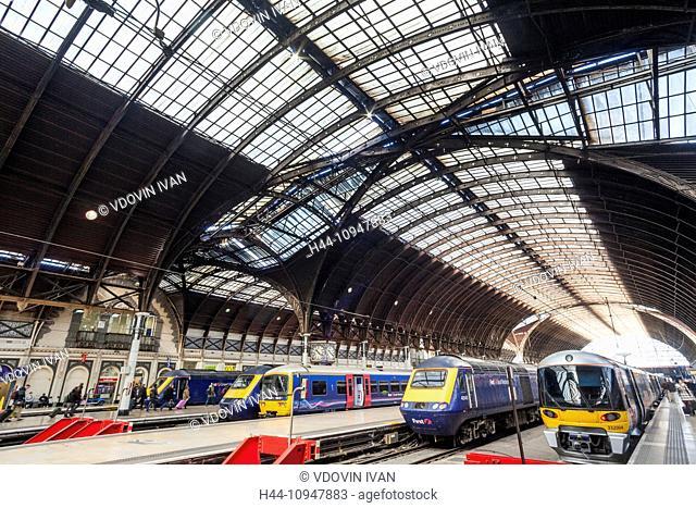 England, London, Paddington Station, Station Interior and Trains