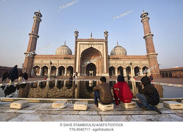 The immense Jama Masjid, India's largest mosque, Old Delhi