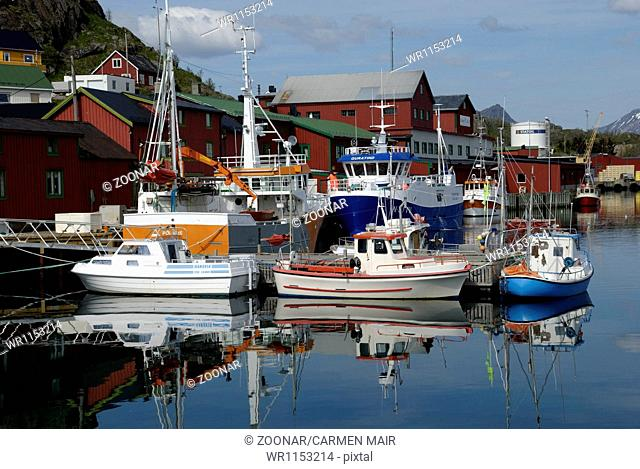 Boats in Stamsund Harbour