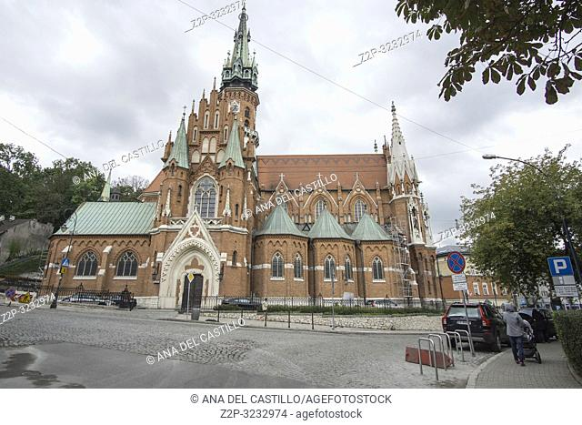 KRAKOW POLAND ON SEPTEMBER 25, 2018: Saint Joseph church in Krakow Poland