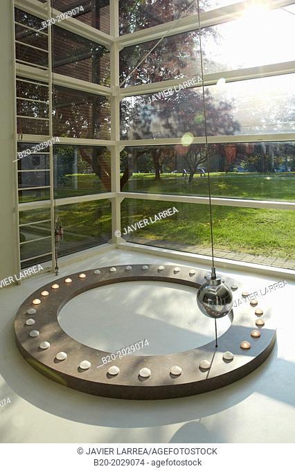 Foucault Pendulum. Eureka Science Museum. Donostia. San Sebastian. Gipuzkoa. Basque Country. Spain