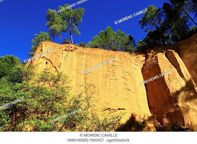 France, Vaucluse, Parc Naturel Regional du Luberon (Natural Regional Park of Luberon), Gargas, Mines Bruoux