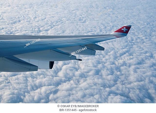 Flight with the Swissair CITY, Zurich, Switzerland, Europe